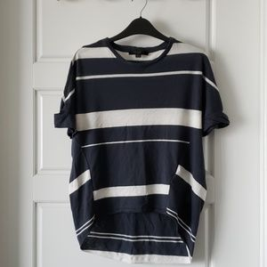 All Saints Wavy Top cut-out sleeves XS Navy